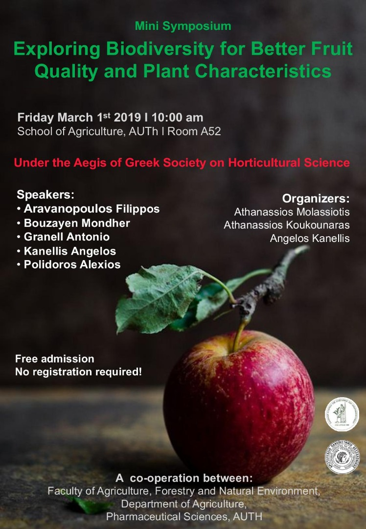 "Mini Symposium  ""Exploring Biodiversity for Better Fruit Quality and Plant Characteristics"""